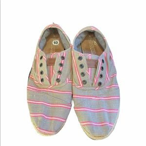 Toms Gray Espadrilles Fabric Women Shoes